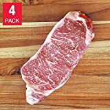 D'Artagnan American Wagyu ABF Beef NY Strip Steaks 12 oz, 4-pack