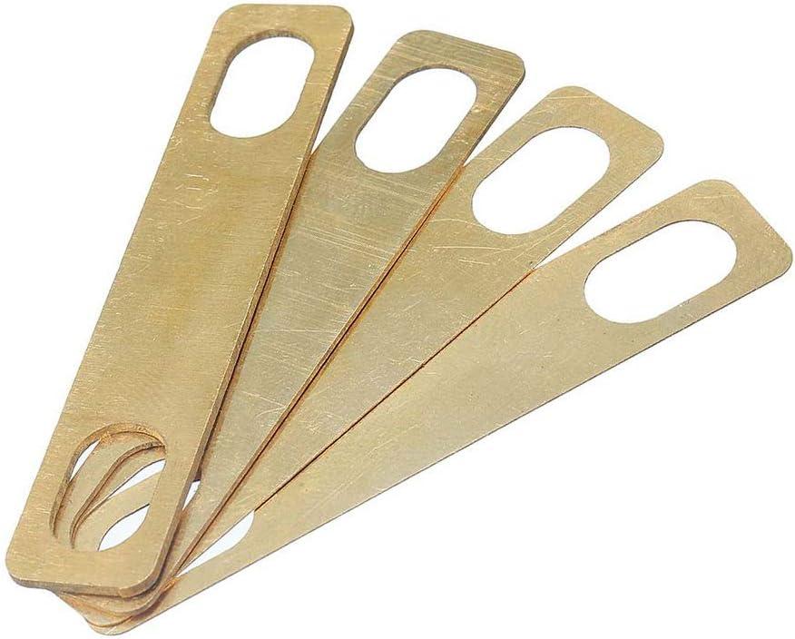 REFURBISHHOUSE 4 Pezzi nel Metallo con Collo nel Ottone Spessore 0,2 Mm 0,5 Mm 1 Mm di Spessore per Chitarra Elettrica ST