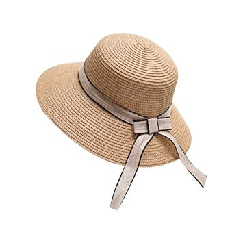 30abad696bf Amazon.com: Thobu Beach Cap, Womens Summer Fisherman Straw Bucket ...