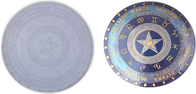 6.5 oz The Hermit Tarot Card Plastic Mold Resin Bath Bomb Soap astrology occult