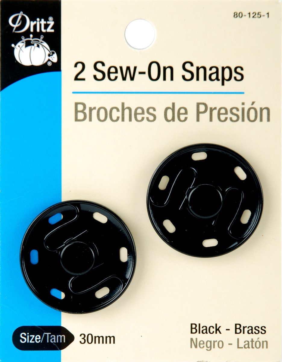 Dritz 80-30-65 Sew-On Snaps Size 3//0 12-Count Nickel-Plated Brass