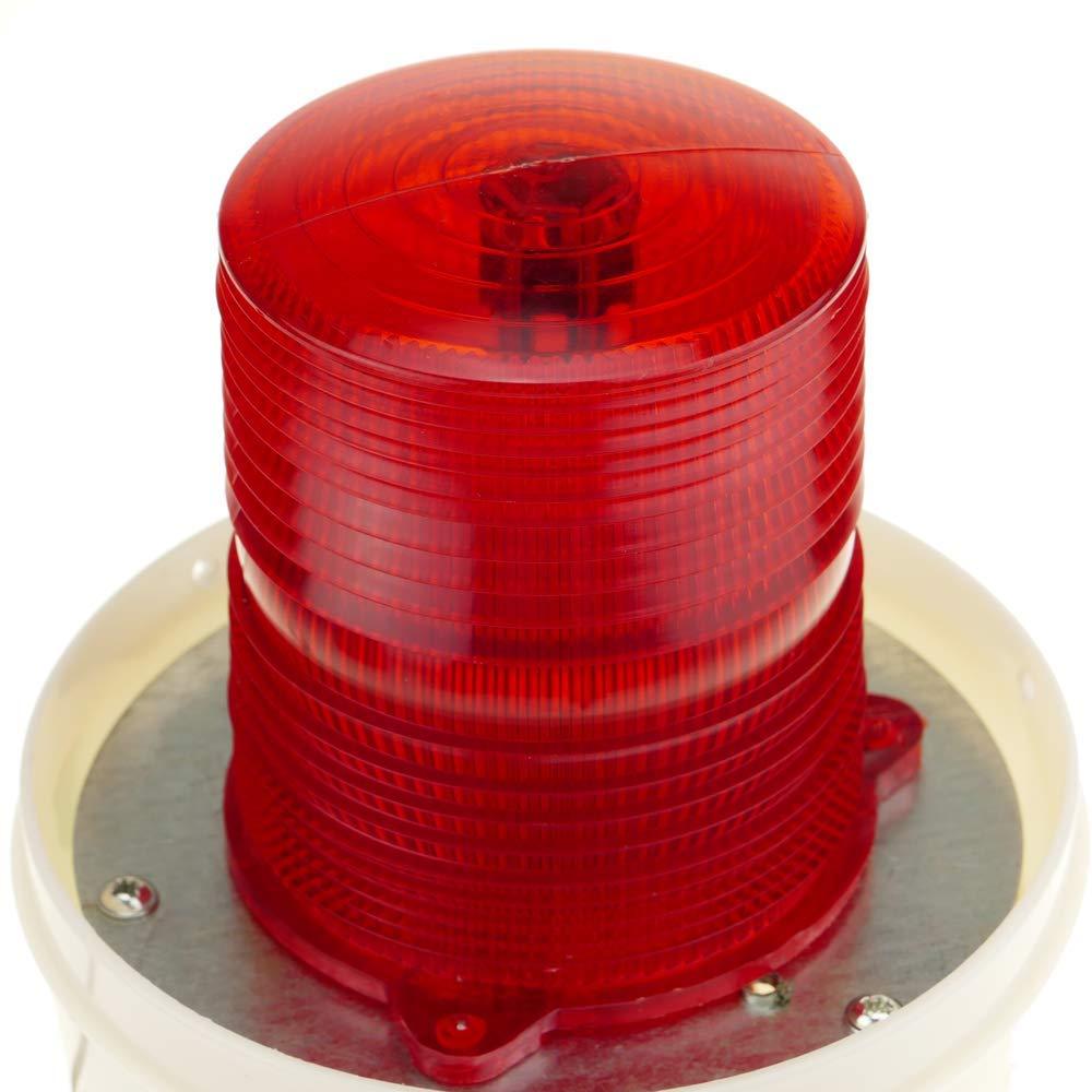 BeMatik Sirena Luminosa de Leds 115 mm de Color Rojo con Efecto de rotaci/ón