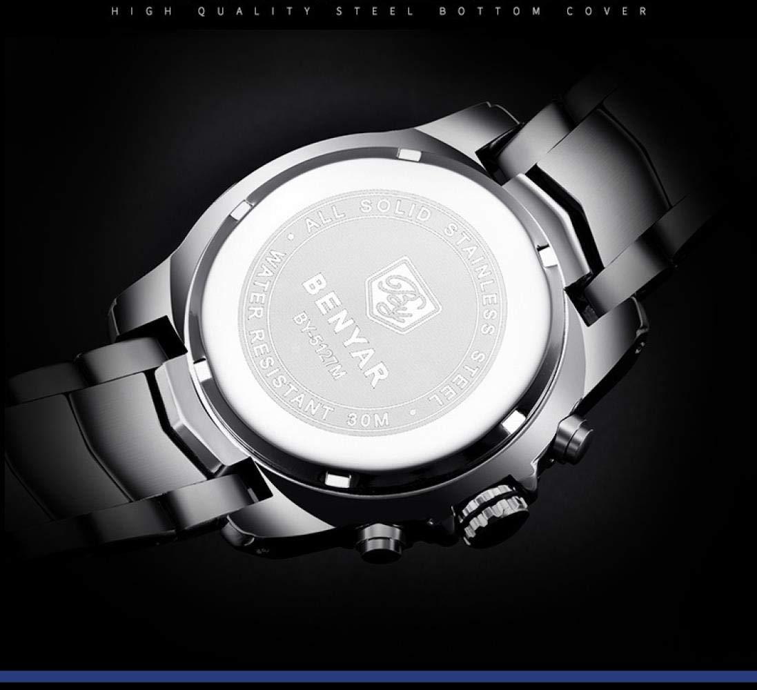 Herrklockor mode vardaglig sport vattentät klocka White Shell Black Surface