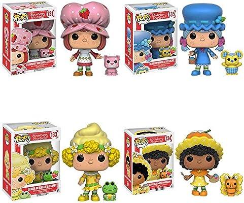 Amazon Com Strawberry Shortcake Orange Blossom Blueberry Muffin Lemon Meringue And Custer Scented Pop Vinyl Figures Set Of 4 Toys Games
