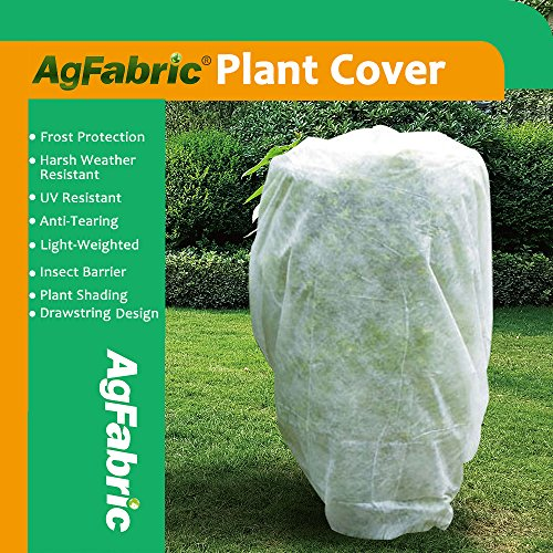 Blanket Frost (Agfabric Plant Cover Square Warm Worth Frost Blanket - 1.5 oz Fabric of 120''Hx120''W Shrub Jacket, Rectangle Plant Cover for Season Extension&Frost Protection)