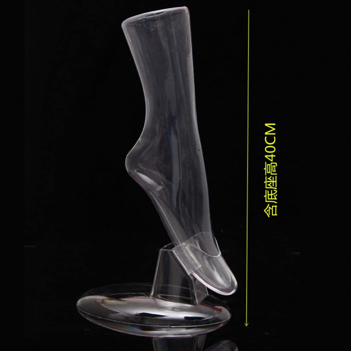 WellieSTR 1 Clear Plastic Mannequin Sock and Shoe Display Foot.