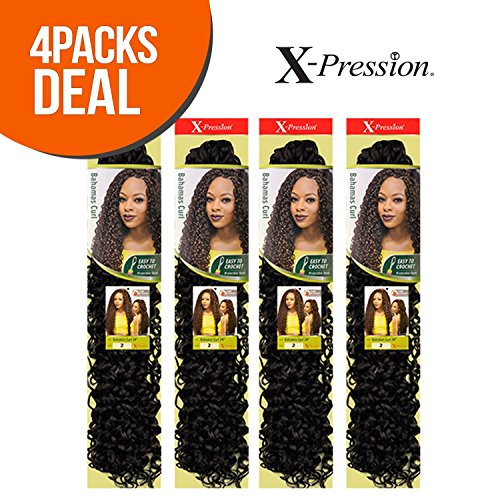 Outre Synthetic Hair Crochet Braids X-Pression Braid Bahamas Curl 24
