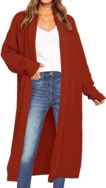 Full Length Maxi Cardigan Duster Long Sleeve Open Front Sweater Coat Women/'s