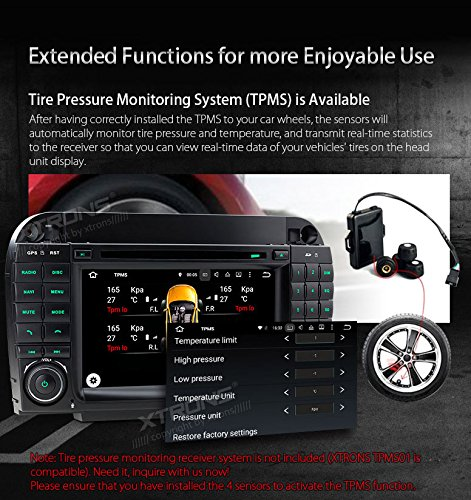 XTRONS Android 6.0 Octa-Core 64Bit 7 Inch Capacitive Touch Screen Car Stereo Radio DVD Player GPS CANbus Screen Mirroring Function OBD2 Tire Pressure Monitoring for Mercedes-Benz S-Class W220 by XTRONS (Image #8)