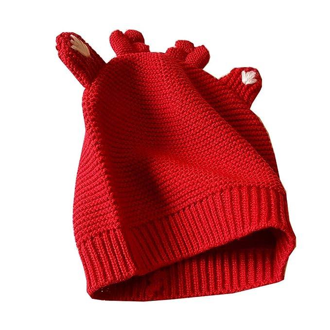 QSEFT: Disfraz de Navidad para bebé, 2 Piezas, de Punto para niños, Manga Larga, a Rayas, Color Rojo, para Nariz o Reno: Amazon.es: Deportes y aire libre