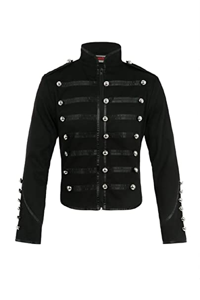 Jawbreaker Mens Steampunk MCR Military Parade Jacket