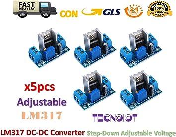 iHaospace 6 Pcs LM317 DC-DC Converter Buck Step Down Module Linear Regulator Adjustable Voltage Regulator Power Supply