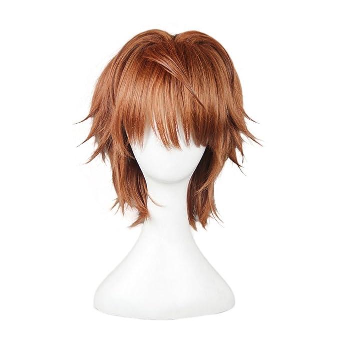 DAOKAI® Oscuridad To Love Ru Rito Yuuki Cosplay de la peluca del traje corto de