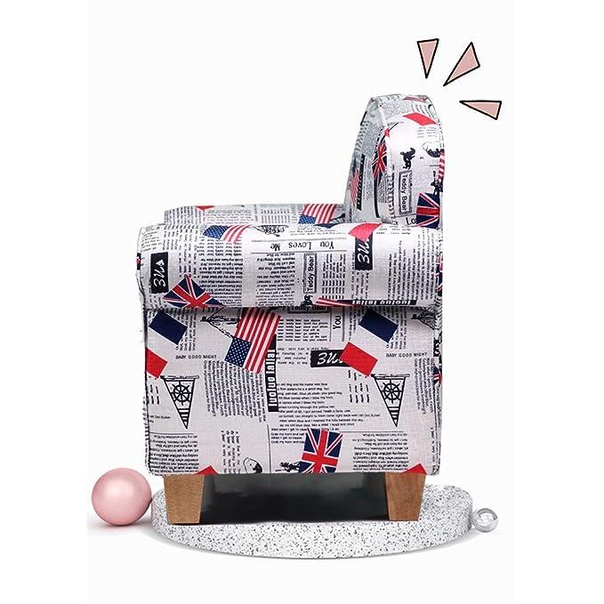 Amazon.com: YONGJUN Sofá de tela, mini sillón de bebé ...