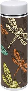 TIZORAX - Termo de acero inoxidable con diseño de libélulas para deportes al aire libre, camping, ciclismo, fitness, gimnasio, yoga, 220 ml