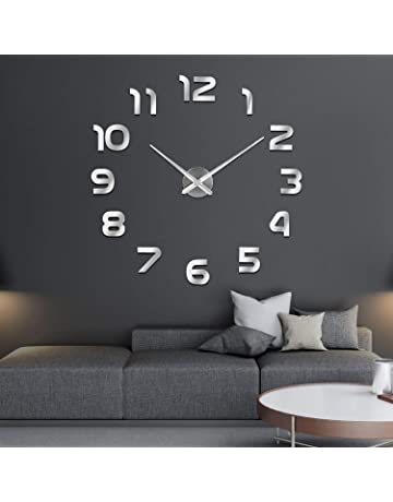 96c11b897ea3 SOLEDI Reloj de Pared 3D DIY Reloj de Etiqueta de Pared Decoración Ideal  para la Casa