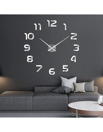SOLEDI Reloj de Pared 3D DIY Reloj de Etiqueta de Pared Decoración Ideal para la Casa