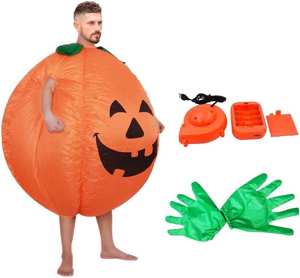 knowledgi Disfraz De Calabaza Inflable para Adultos, Fiesta De Pascua De Halloween para Mujeres, Hombres, Disfraces, Accesorios De Fiesta Cosplay