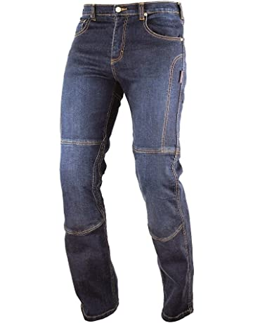 Jeans Pantaloni Moto Protezioni Omologate Inserti Kevlar Rinforzati Blu 36 c00d51fcfe5