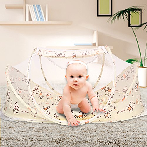 SINOTOP Baby Mosquito Ded Portable for Travel, Baby Bed Folding Baby Crib Mosquito Net Portable Baby Cots for 0-18 Month Baby (style 3) by Tianmei