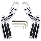"""KONDUONE Motorcycle Highway Pegs Foot Rests fit 1.25"""" Engine Guard Parts Replacement for Harley Davidson Road Glide, Electra"""