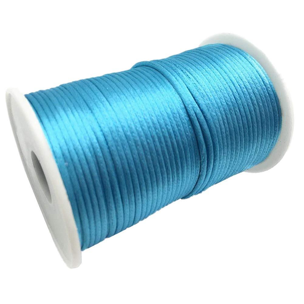 fqtanju 2 mm x 100ヤードプレミアム品質Rattailナイロンサテンコードロール、Kumihimo Rattail、中国ノット、ロイヤルブルー unknown  ブルー B074V7VVKW