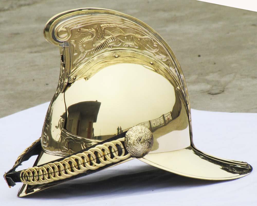 Shiv (TM Shakti Unternehmen Collectible Viktorianischer Merryweather Messing MFB Feuerwehr Feuerwehr Helm