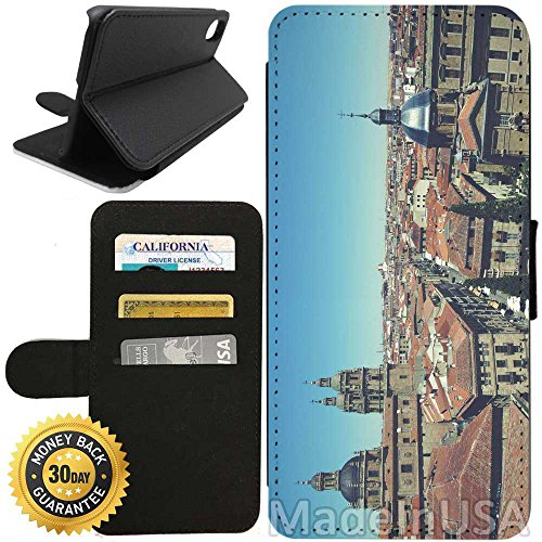Flip Wallet Case for iPhone X/10 (Old City of Salamanca) with Adjustable Stand and 3 Card Holders | Shock Protection | Lightweight | Includes Free Stylus Pen by Innosub - Salamanca Three Light