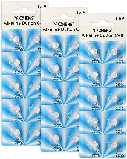 YXZHENG 30 Pack LR41 AG3 392 384 192 Battery 1.5V Button Coin Cell Batteries