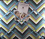 quilted picture board - The French Memo Board-a Creative Display for Photos, Mementos, Greeting Cards and Much More-Multi Color Zig Zag- Factory Sealed