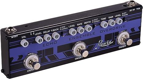 Muslady Rowin 3-en-1 Guitarra Multi Efectos Pedal Echo + Ensemble ...