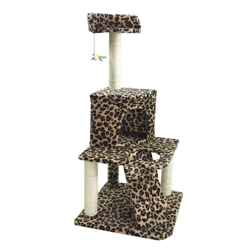 C Cat Furniture Play Towers and Trees Creative Play Towers Trees for Cats Pet cat Toy Furniture Grab Board Villa cat Nest Bed House Ladder 50  50  112cm Plate Hemp Rope Flannel (color   C)
