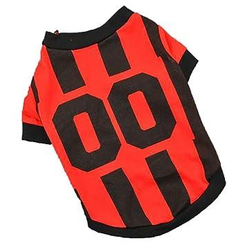 CieKen Pet Apparel primavera verano camisas de fútbol uniformes perro pequeño gato ropa deporte camiseta chaleco