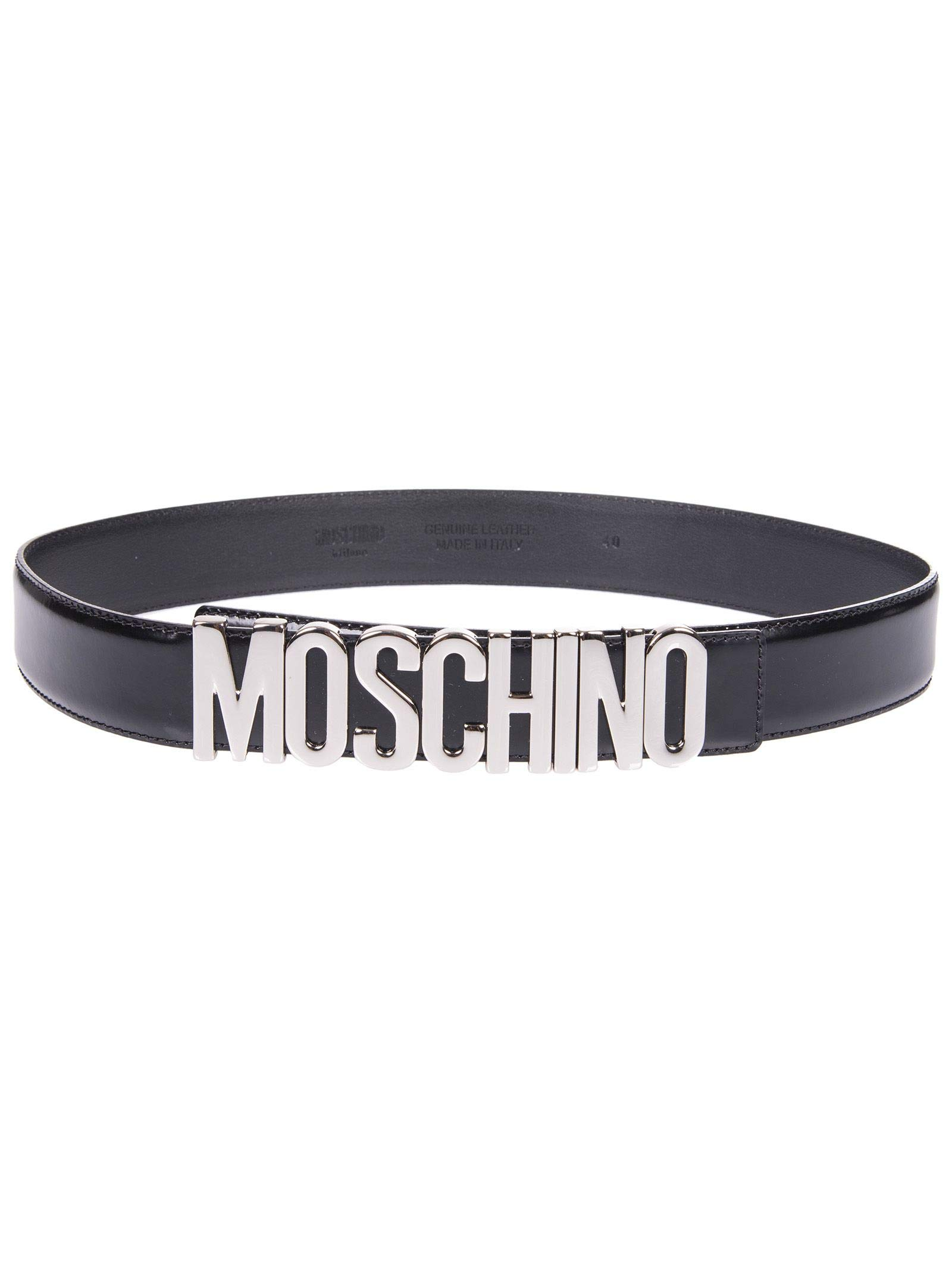Moschino Women's A801280071555 Black Leather Belt