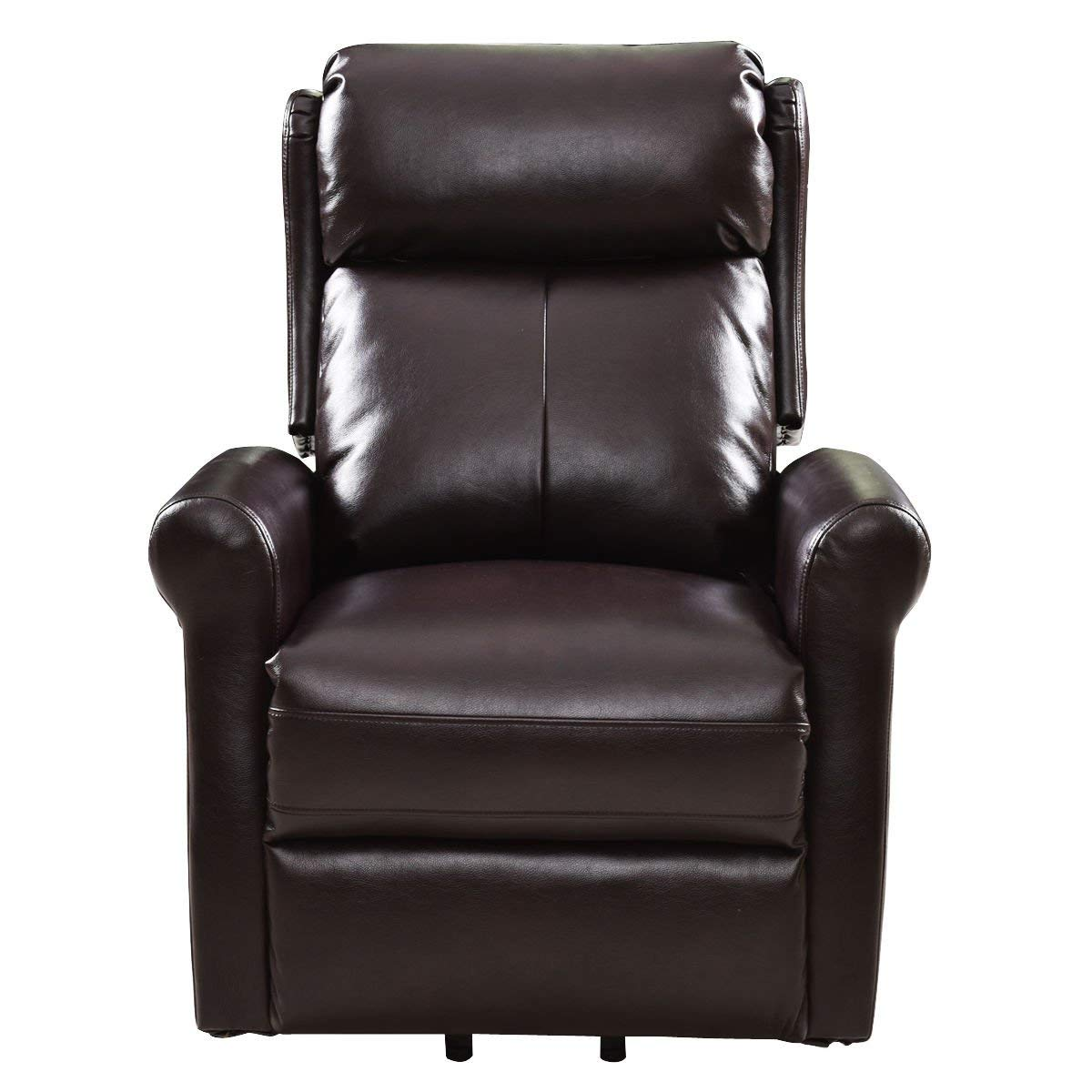 Giantex Power Lift Recliner Chair Home Theater Seating Living Room Sofa Chair PU Leather Electric Recliners with Remote Control Heavy Duty Safety Motion for Elders