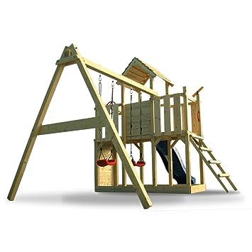 Cool XXL Spielturm Kletterturm mit Rutsche 2 Schaukeln + komplettem  AM13