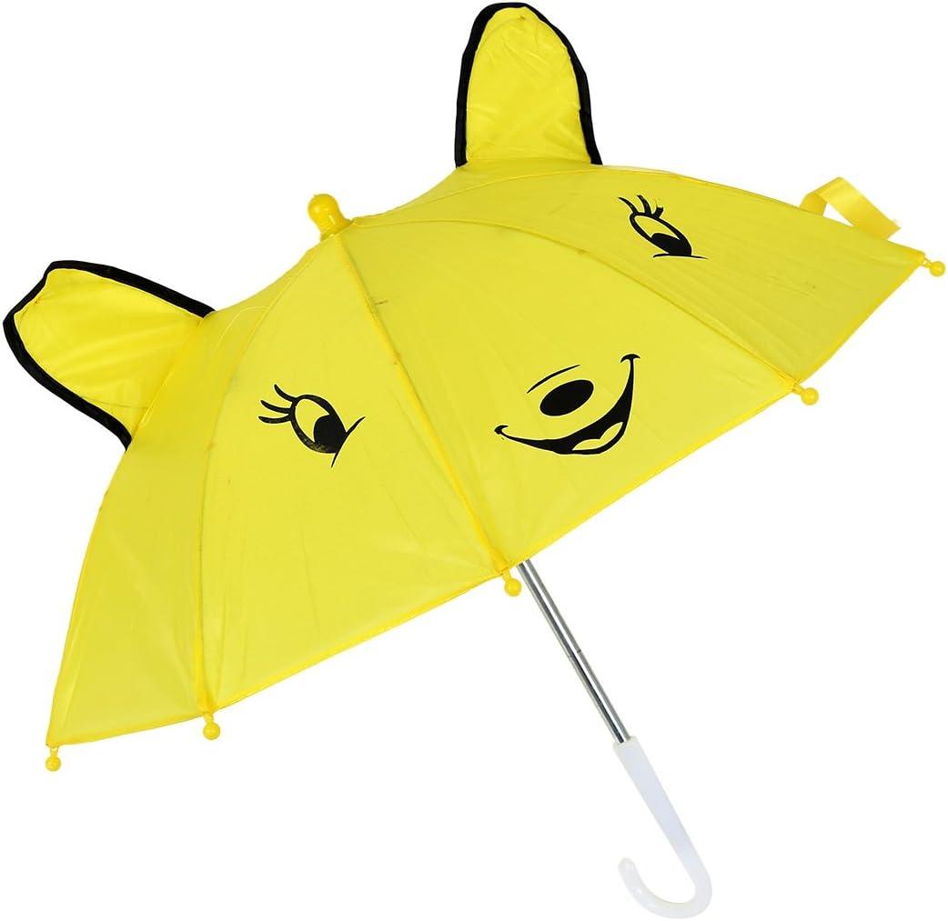 WOVELOT Parapluie de Forme de Panda Jaune pour Les Enfants