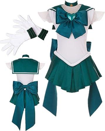 Sailor Moon Super S Cosplay Costume Sailor Neptune Kaiou Michiru Heart Brooch