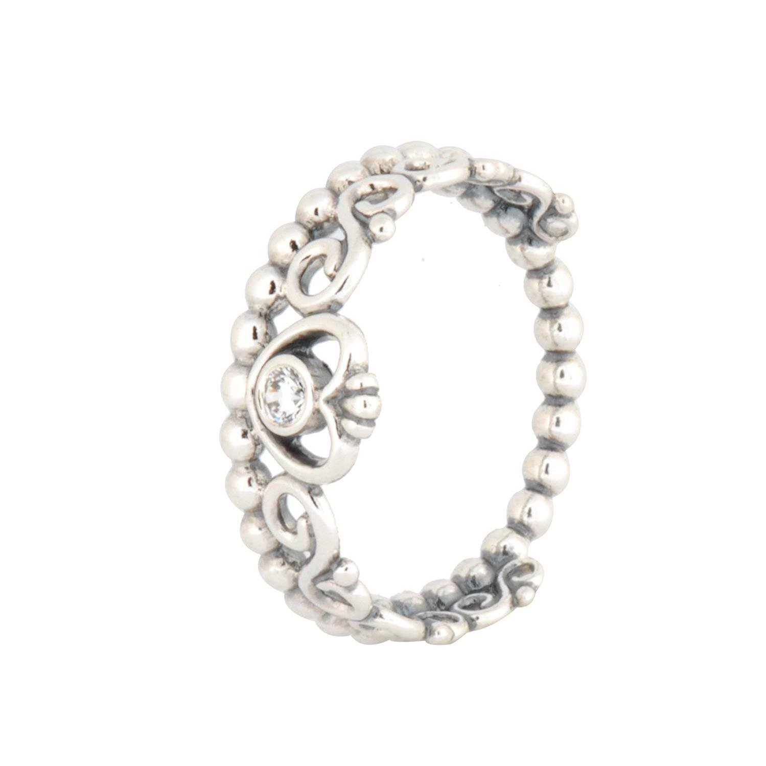 968be295f5b030 Amazon.com: Pandora My Princess Stackable Silver Ring with Clear Cubic  Zirconia 190880CZ60: Jewelry