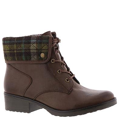 BareTraps Oswald Women's Boot 6 B(M) US Dark Brown-Plaid