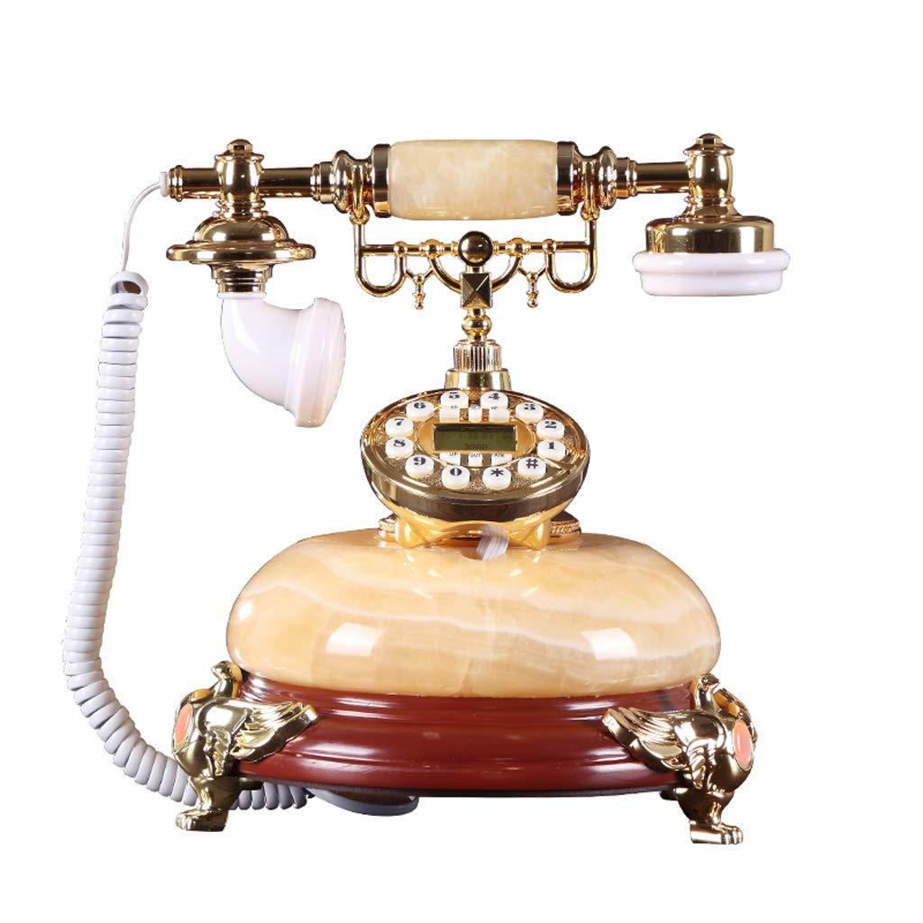 レトロなビンテージスタイルのボタン型樹脂製携帯電話、ホーム固定電話、オフィス用デコレーション B07JHXD5TV