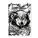 No Anger Management Wolf World Matte/Glossy Poster A4 (9x12 inches) | Wellcoda