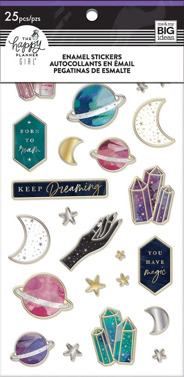 One Size ME /& MY BIG IDEAS Enamel Stickers Stargazer