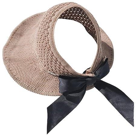 Xuanbao-Hat Visera Ocio Gorra para Sol Sombrero de Mujer ...