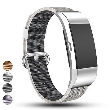 iFeeker para Fitbit Charge 2 Reloj Banda Correa Bastidor de Nailon Trenzado Correa de muñeca de