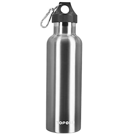Amazon.com: topoko 25 oz botella de agua de acero inoxidable ...