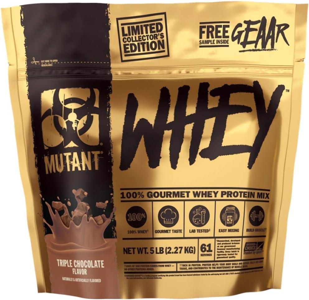MUTANT Whey 5lb Triple Chocolate - LIMITED EDITION GOLD BAG - INCLUYE 1 MUTANT GEAAR MUESTRA