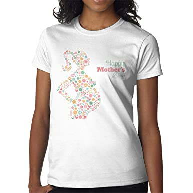 92857dcc Female Happy Mother's Day Crew Neck T-Shirt, Funny Mother's Day Custom Short  Sleeve
