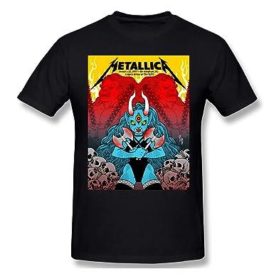 Pimkly Camisetas y Tops, Polos y Camisas, Metallica Print Short ...