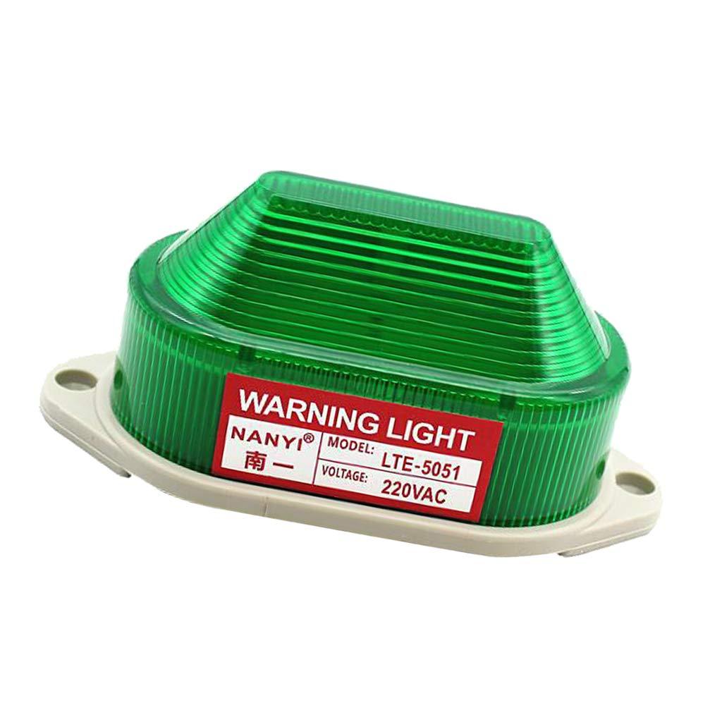 H HILABEE Emergencia Led Beacon Intermitente Luz Estrobosc/ópica Advertencia Luz L/ámpara Zumbador 220 V Azul1